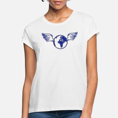 Attitude earth with wings - Women's Loose Fit T-Shirt