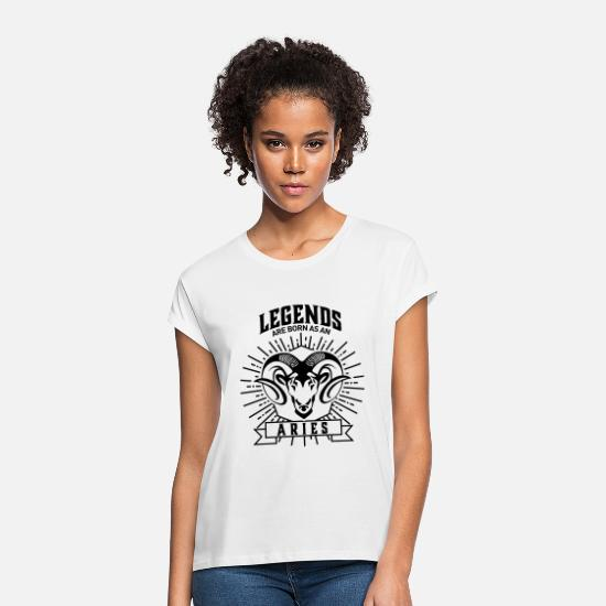 Birthday T-Shirts - legends are born as an Aries Widder Sternzeichen - Women's Loose Fit T-Shirt white