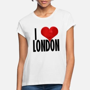 London I LOVE LONDON black - Women's Loose Fit T-Shirt