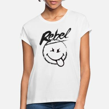 Smiley SmileyWorld Rebel - Maglietta larga donna