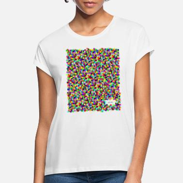 Animo Colorful Squares - Frauen Oversize T-Shirt
