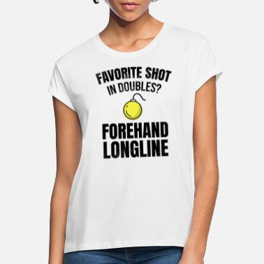 Longline Tennis doubles | Double player forehand longline - Women's Loose Fit T-Shirt