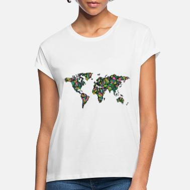 World Map Geometric world map - Women's Loose Fit T-Shirt