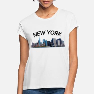 New York City New York New York City - Oversize T-skjorte for kvinner