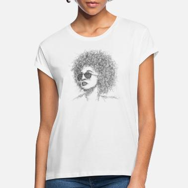 Afro Afro Gribouillage - T-shirt oversize Femme