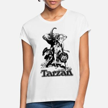 Tarzan with elephant, lion and apes - Women's Loose Fit T-Shirt