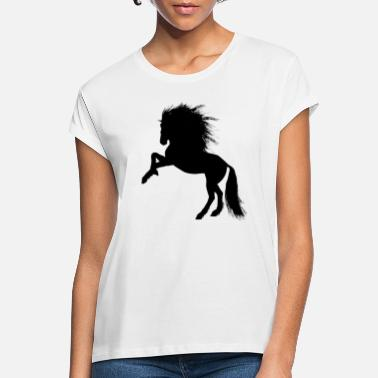 Rising Horse Mane Horse Girl Horse Love - Women's Loose Fit T-Shirt