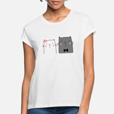 Wedding Couple Cats Couple Couple Couple Wedding Couple Wedding - Women's Loose Fit T-Shirt