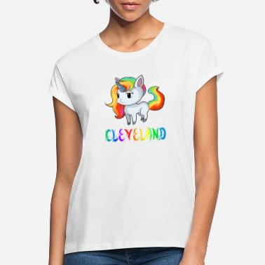 Cleveland Browns Unicorn Cleveland - Women's Loose Fit T-Shirt