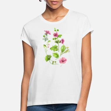 Botanical Botanical, flower, flowers, floral motif, botany - Women's Loose Fit T-Shirt