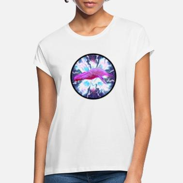 Blue Whale animal marble pattern - Women's Loose Fit T-Shirt