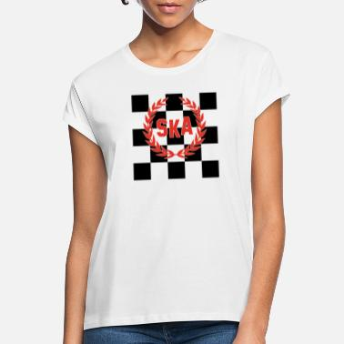 Ska SKA Checkered Skinhead Punk Music T-Shirt - Women's Loose Fit T-Shirt