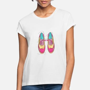 Stylish lace-up shoes - Women's Loose Fit T-Shirt