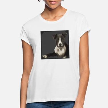 Staff Puppy, painting - T-shirt oversize Femme