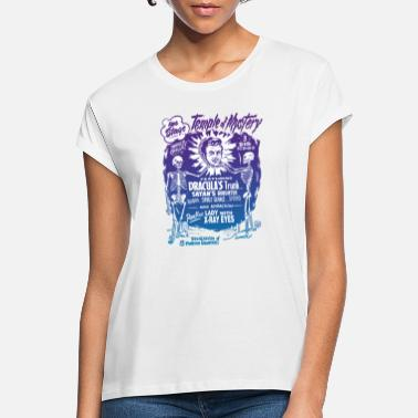 Cool Vintage Halloween Spook Show Temple of Mystery - Camiseta holgada mujer