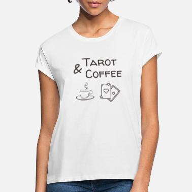 Oracle Tarot & Coffee Love - T-shirt oversize Femme