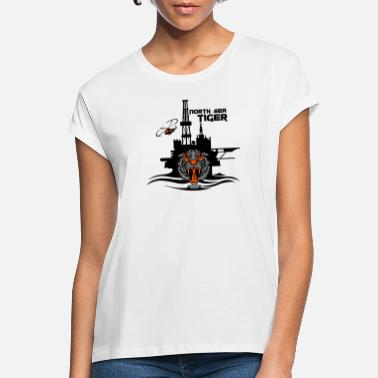 Oil North Sea Tiger Oil Rig Platform Aberdeen - Women's Loose Fit T-Shirt
