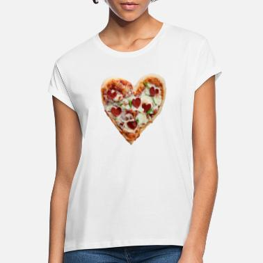 Pizza Heart - Frauen Oversize T-Shirt