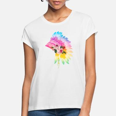 Headdress Floral Headdress - Women's Loose Fit T-Shirt