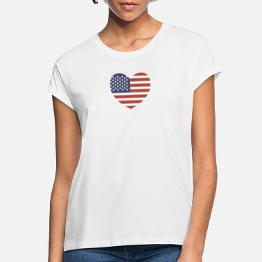 Stars And Stripes USA Heart - Women's Loose Fit T-Shirt