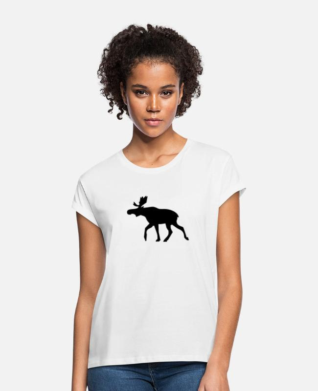 Nature T-Shirts - moose - Women's Loose Fit T-Shirt white