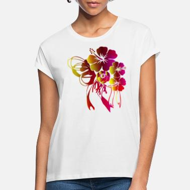 Flora Floral gift with bow ribbon - Women's Loose Fit T-Shirt