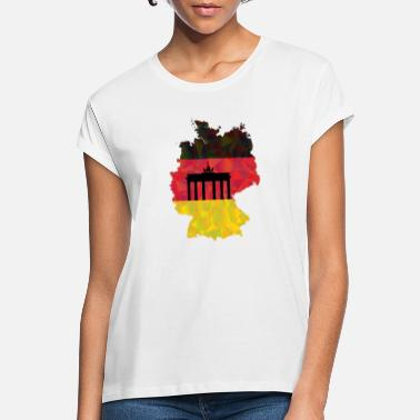 Federal Republic The Federal Republic of Germany + Brandenburg Gate - Women's Loose Fit T-Shirt