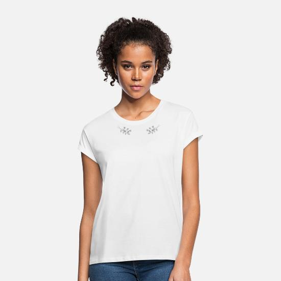 Bloom T-Shirts - flowers collar - Women's Loose Fit T-Shirt white