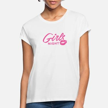 Girls night kissing mouth kiss bridesmaids party - Women's Loose Fit T-Shirt