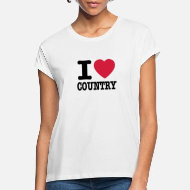 Country i love country / i heart country - Oversize T-shirt dame