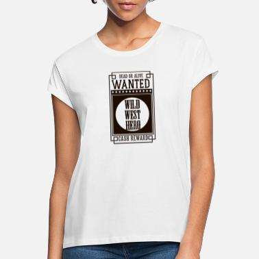 Orchestra WANTED DEAD OR ALIVE - WILD WEST HERO Black - Women's Loose Fit T-Shirt