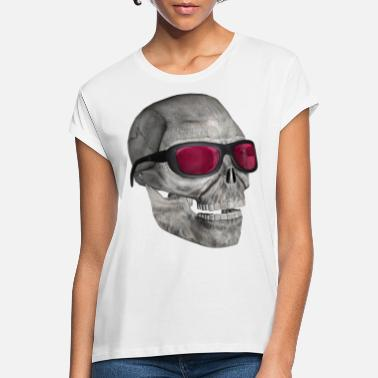 Cool Skull med solglasögon - skull with sunglasses - Oversize T-shirt dam