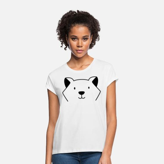 Gift Idea T-Shirts - dog - Women's Loose Fit T-Shirt white