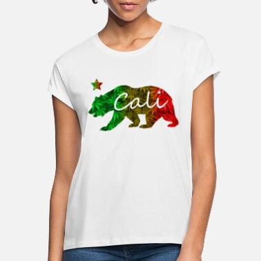 Rasta Cali Bear Rasta 420 - Women's Loose Fit T-Shirt