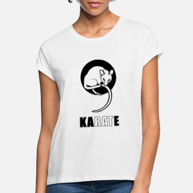 Rat Karate Rat - Vrouwen oversized T-Shirt