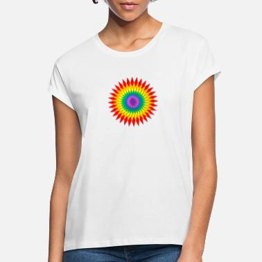 Sunburst Rainbow Sunburst - Frauen Oversize T-Shirt