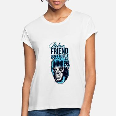 Abeagtig Funny Chill Relax Friend Monkey Gorilla Gift - Oversize T-shirt dame