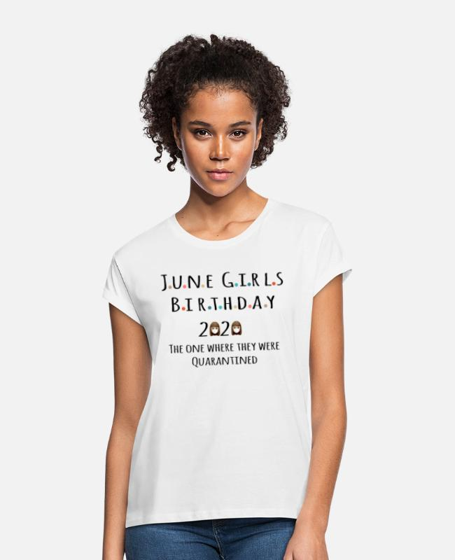 02 T-Shirts - June 2002 June 18th birthday gift - Women's Loose Fit T-Shirt white