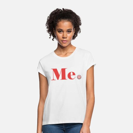 Statement T-shirts - SmileyWorld Me. - Vrouwen oversized T-Shirt wit