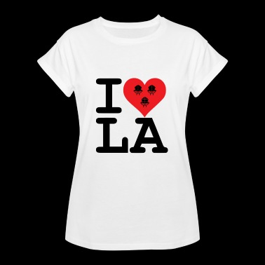 I love LA! black with ribbons - Women's Oversize T-Shirt