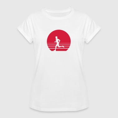 Runner Sundown - Frauen Oversize T-Shirt
