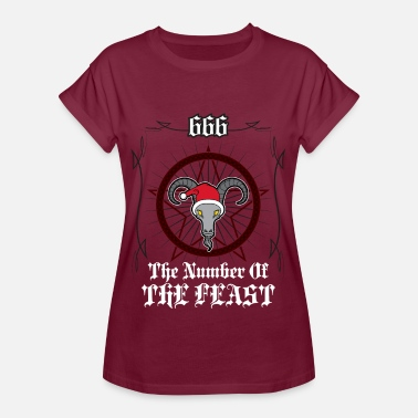Sekt God jul - God jul 666 - Oversize-T-shirt dam