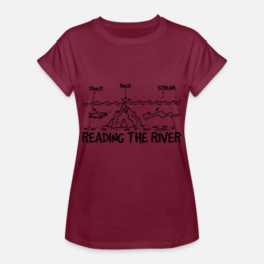 River READING THE RIVER - Women's Oversize T-Shirt