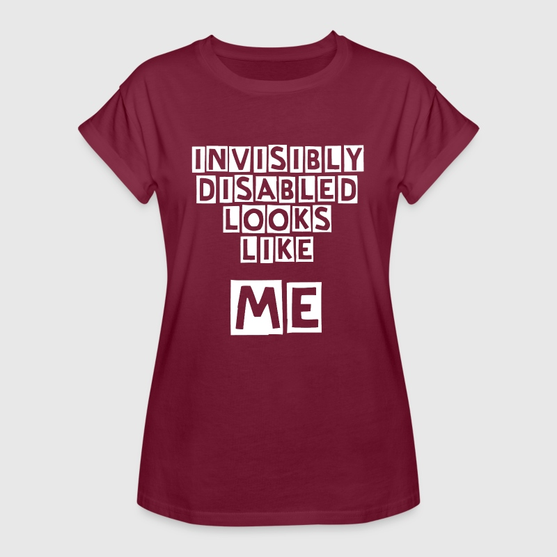 Invisibly Disabled White - Women's Oversize T-Shirt