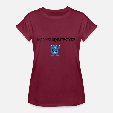 Happiness Happiness Destroyer - Oversize T-skjorte for kvinner