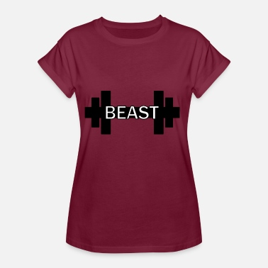 Dumbbell Dumbbell Beast Fitness Gym Gainz - Dame oversize T-shirt