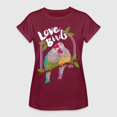 Couples Animal Planet Lovebirds Parrots - Women's Oversize T-Shirt