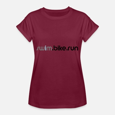 swim.bike.run triathlon triathlete gift sports - Women's Oversize T-Shirt