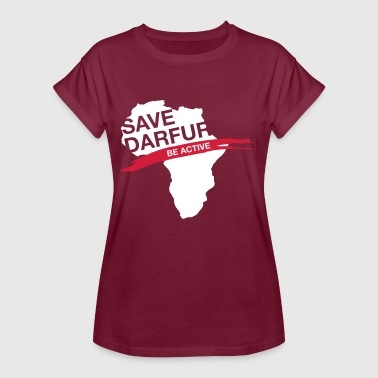 Khartoum Save Darfur. Be Active! - Women's Oversize T-Shirt