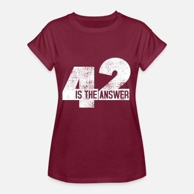 Answer 42 The Answer Is 42 - Women's Oversize T-Shirt
